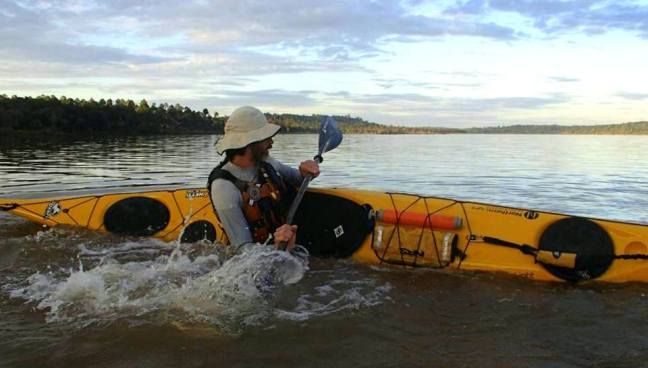 Curso de kayak en Teyú Cuaré